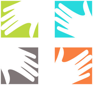 Tobi Johnson & Associates Logo Icon (four hands)
