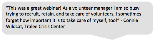volunteerpro membership testimonial connie