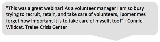 volunteerpro membership testimonial connie