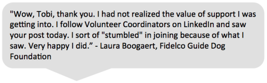 volunteerpro membership testimonial laura