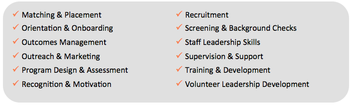 volunteerpro membership training topics