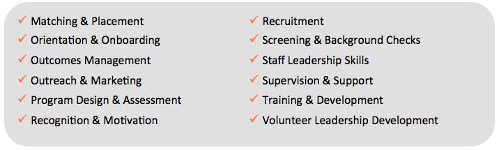 volunteerpro membership training topics
