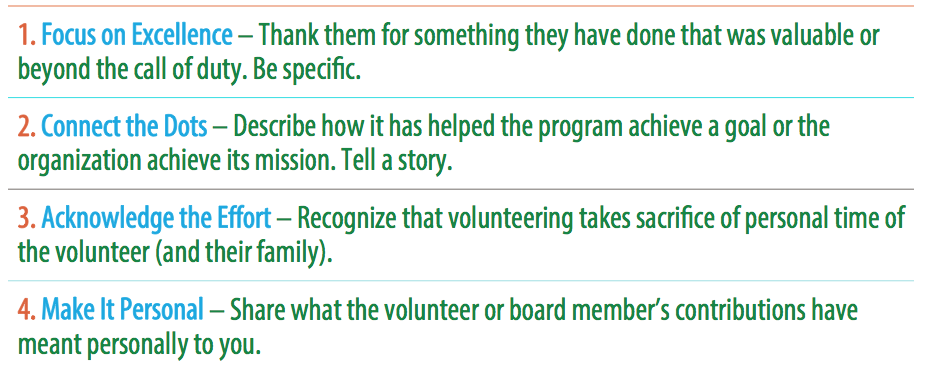 volunteer appreciation in four steps