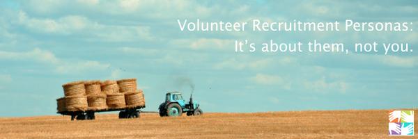 volunteer recruitment personas at volpro.net