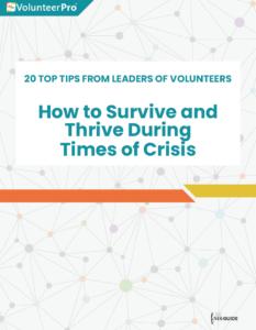 managing volunteers during crisis