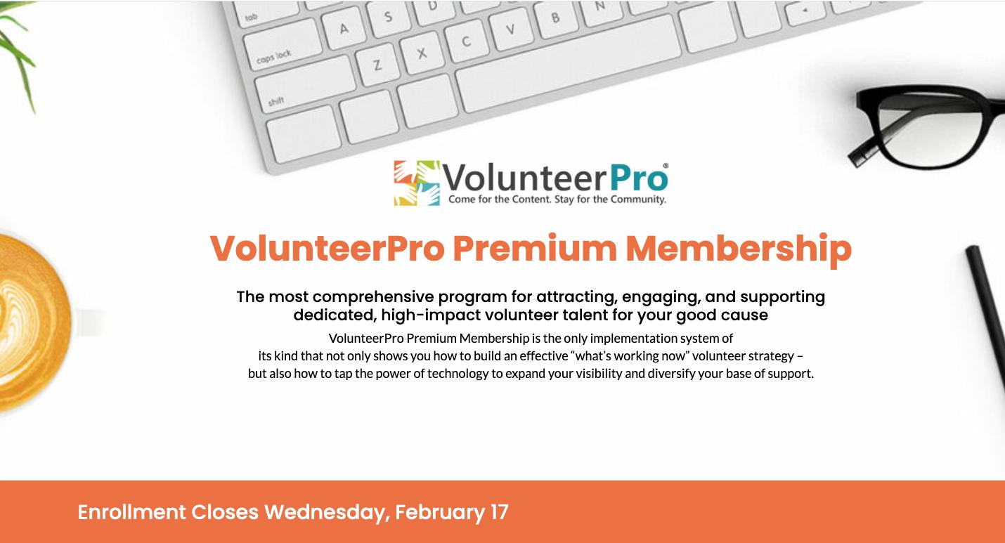 volunteerpro premium membership